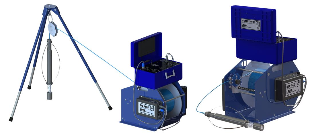 Laval DW-1500 Downhole Video camera Winch - Geoquip Water Solutions