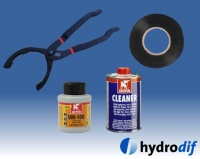 Hydrodif PVC Glues, Cements, Tools & Tape