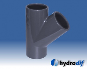 45º Tee for PVC Metric Pipe