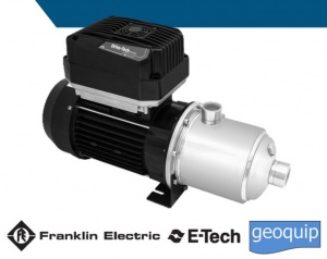 Franklin Electric E-tech EH DTm Horizontal multistage pumps with Drive-Tech MINI