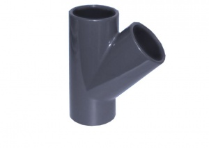 45º Tee for PVC Metric Pipe 50mm to 63mm