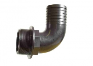 Male Hosetail 90º Elbow