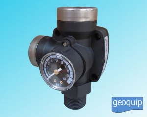 T-KIT Universal 3 Way Fitting with Non Return Valve & Pressure Gauge