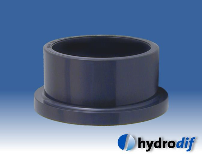 Flange adaptor stub for pvc imperial pipe