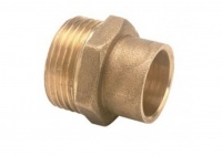 End Feed Brass Male Connector