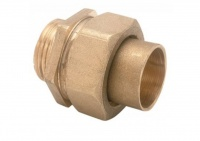 End Feed Brass Union Coupler
