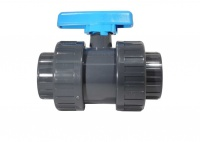 Solvent Cement Double Union Ball Valves (Imperial)